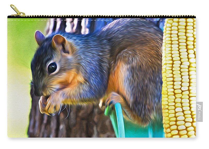 Sciuridae Carry-all Pouch featuring the photograph Best Seat In The House by Lana Trussell