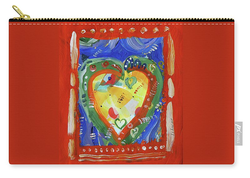 Heart Carry-all Pouch featuring the painting Best Wishes by Ishwar Malleret