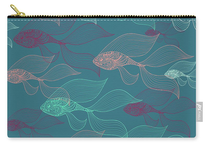 Dolphins Carry-all Pouch featuring the photograph Beta Fish by Mark Ashkenazi
