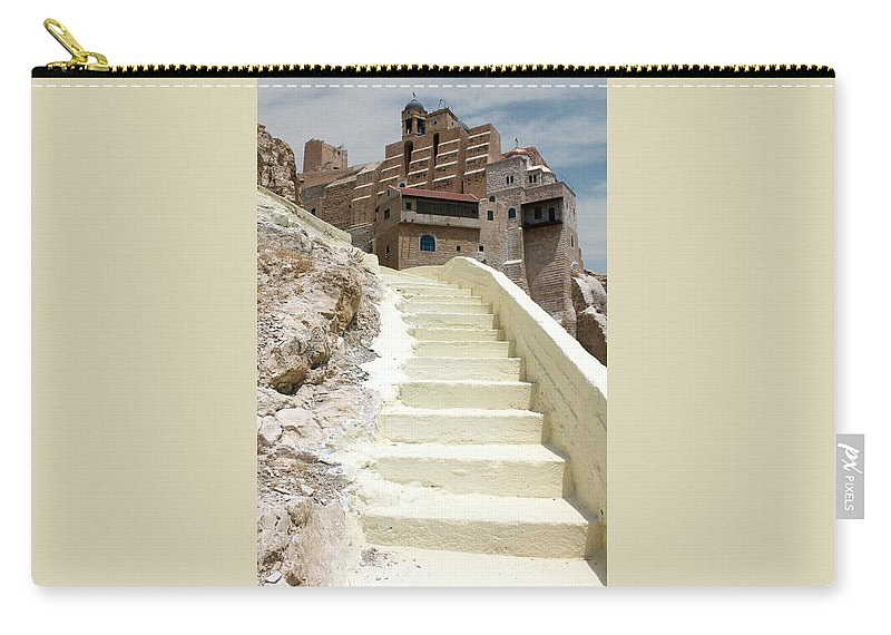 Bethlehem Carry-all Pouch featuring the photograph Bethlehem - The Way To Mar Saba Monstary by Munir Alawi