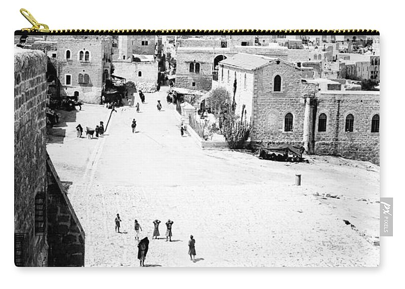 Bethlehem Carry-all Pouch featuring the photograph Bethlehem 1889s by Munir Alawi