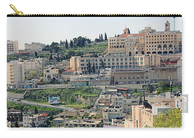 Spring Carry-all Pouch featuring the photograph Bethlehem In Spring by Munir Alawi