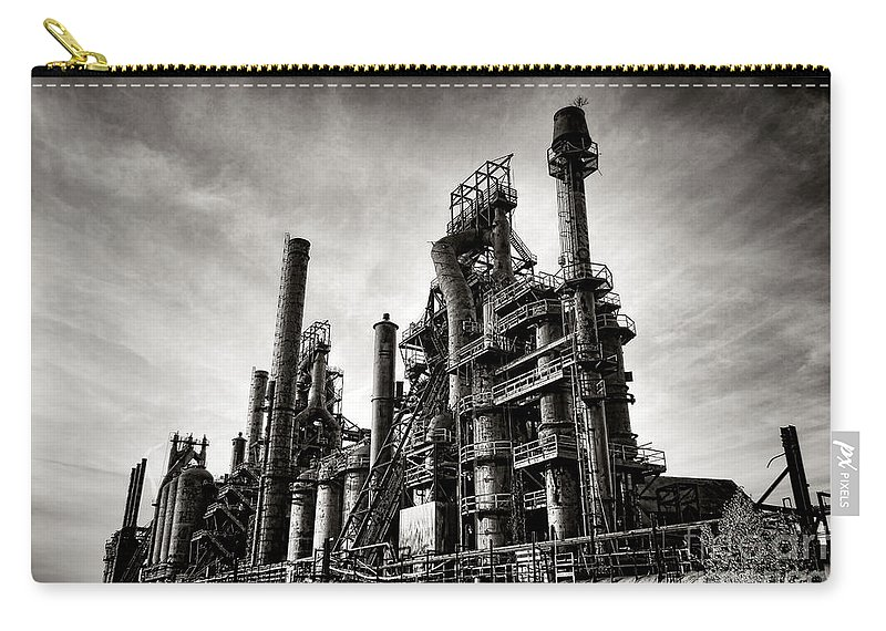 Bethlehem Carry-all Pouch featuring the photograph Bethlehem Steel by Olivier Le Queinec