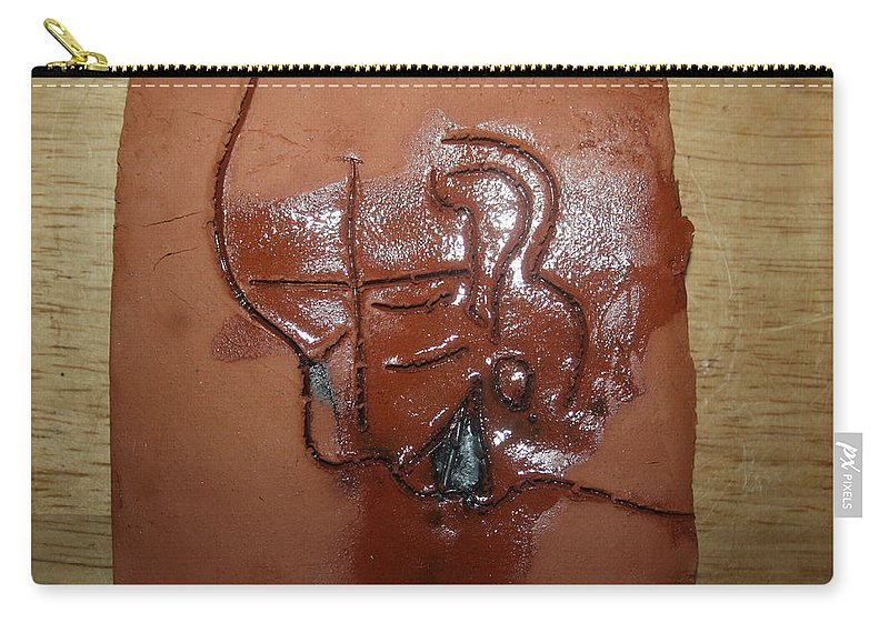 Jesus Carry-all Pouch featuring the ceramic art Betrayal - Tile by Gloria Ssali