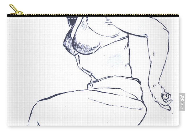 Bettie Page Carry-all Pouch featuring the painting Bettie Page Harem Girl by Bryan Bustard