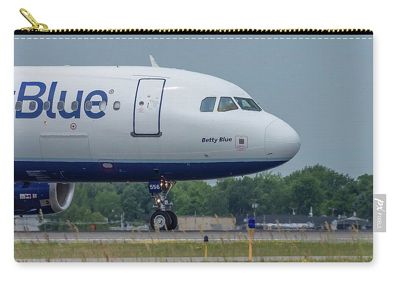 A320 Carry-all Pouch featuring the photograph Betty Blue by Guy Whiteley