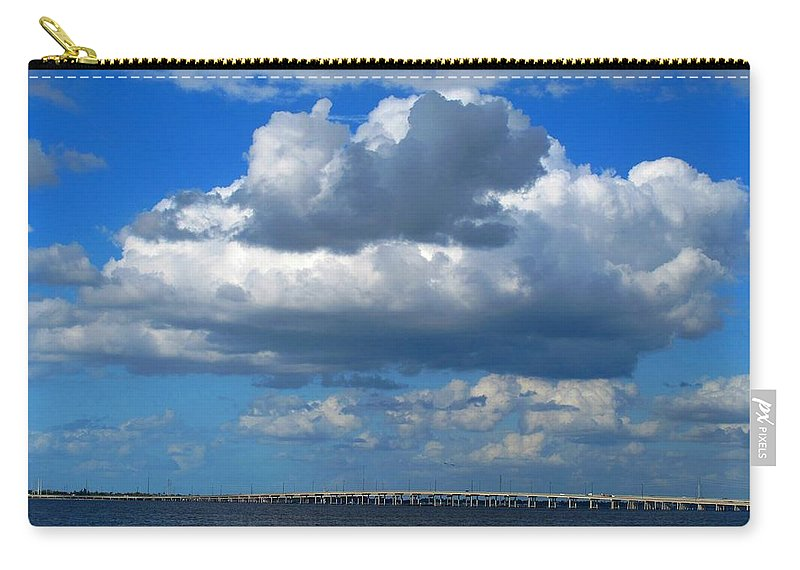 Punta Gorda Carry-all Pouch featuring the photograph Between by Ian MacDonald