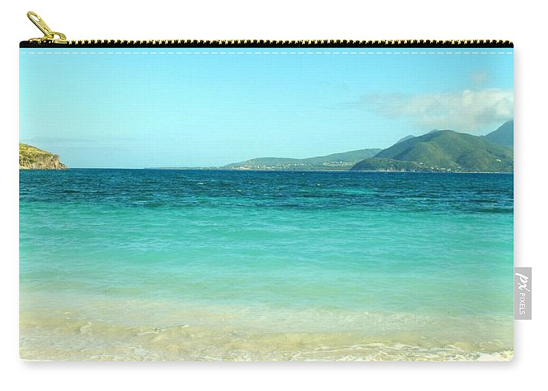 St Kitts Carry-all Pouch featuring the photograph Between Nevis And St Kitts by Ian MacDonald