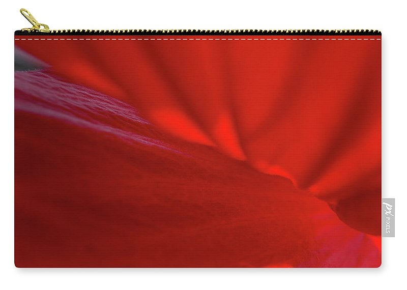 Hibiscus Carry-all Pouch featuring the photograph Between The Petals by Linda Howes