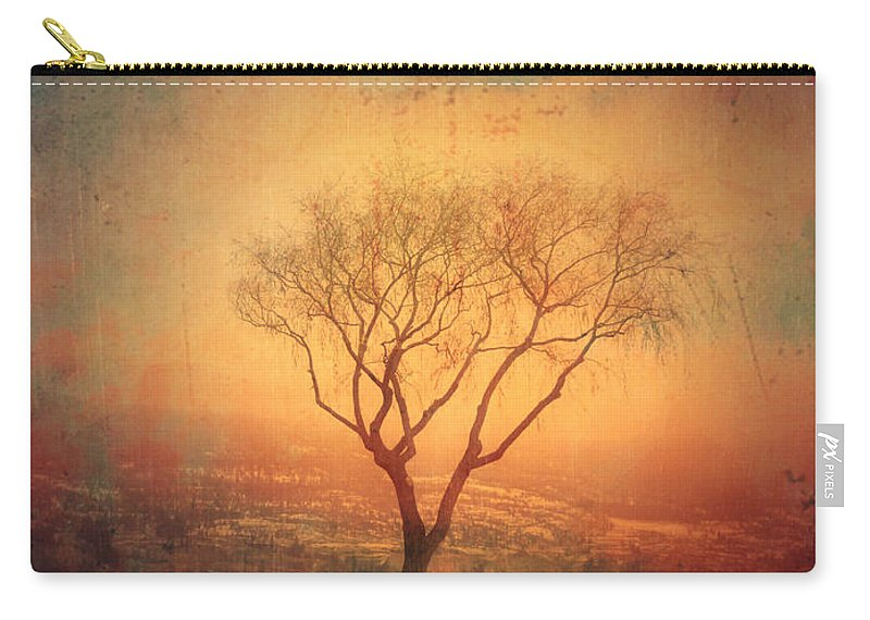 Texture Carry-all Pouch featuring the photograph Between Two Benches by Tara Turner