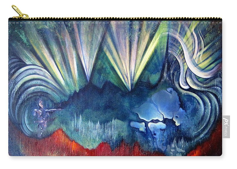 Surreal Carry-all Pouch featuring the painting Beware The Hollow Man by Shadia Derbyshire