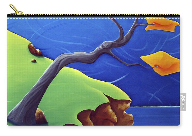 Landscape Carry-all Pouch featuring the painting Beyond Limitations by Richard Hoedl