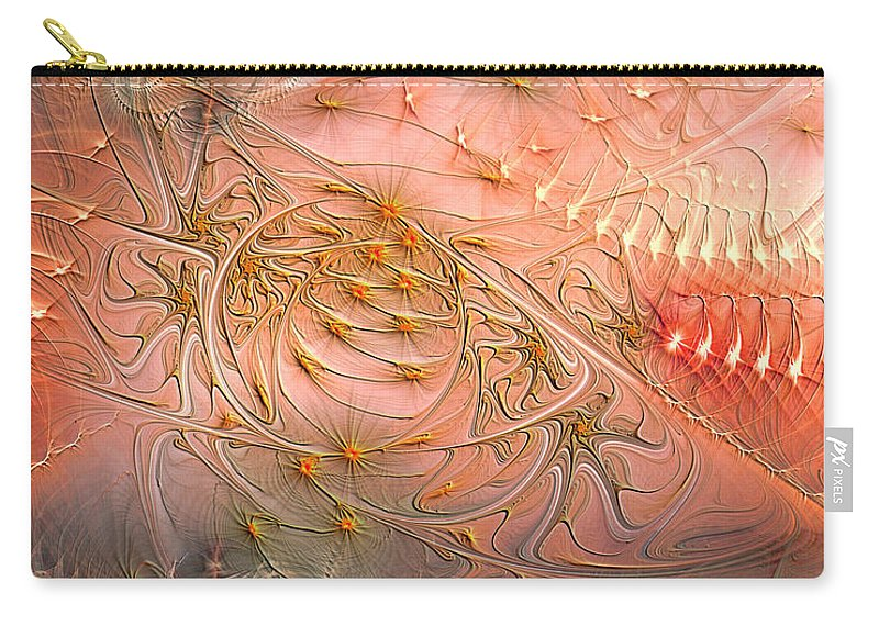 Abstract Carry-all Pouch featuring the digital art Beyond Solipsism by Casey Kotas