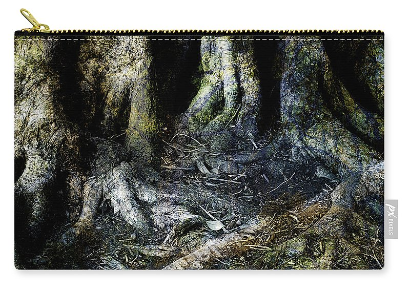 Tree Carry-all Pouch featuring the photograph Beyond The Forest Edge by Kelly Jade King