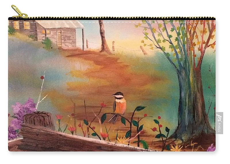 Country Carry-all Pouch featuring the painting Beyond The Gate by Denise Tomasura