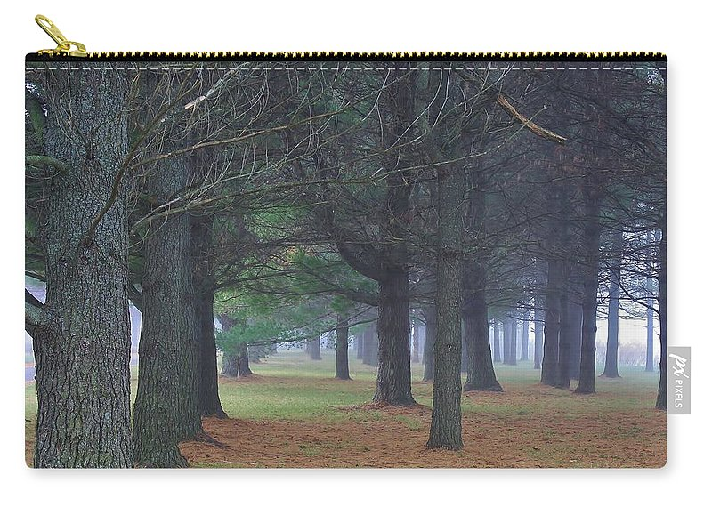 Woodland Carry-all Pouch featuring the photograph Beyond The Pines by Bruce Bley