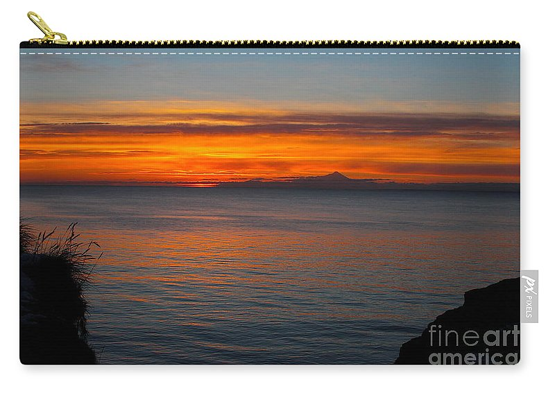 Sunset Carry-all Pouch featuring the photograph Beyond The Shore by Rick Monyahan