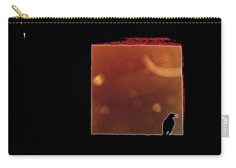 Crow Carry-all Pouch featuring the digital art Beyond This Point by Marc Dettloff