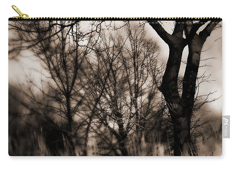 Tree Carry-all Pouch featuring the photograph Beyond Twilight by Lauren Radke