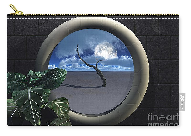Walls Carry-all Pouch featuring the digital art Beyond Walls by Richard Rizzo