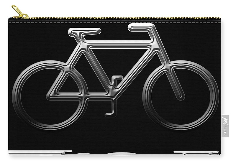 Bicycle Carry-all Pouch featuring the digital art Bicycle by Aimee L Maher ALM GALLERY