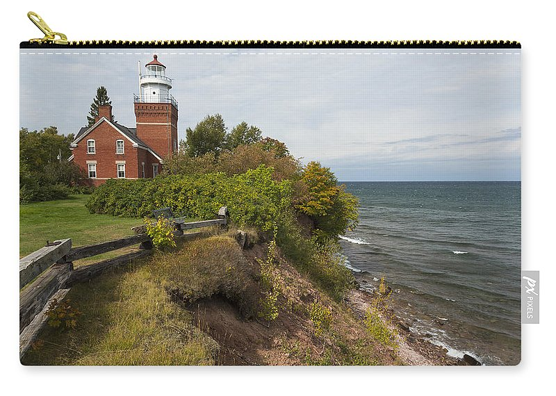 Big Carry-all Pouch featuring the photograph Big Bay Point Lighthouse 2 by John Brueske