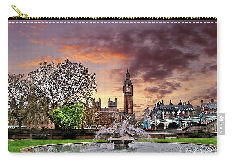 London Carry-all Pouch featuring the photograph Big Ben London by Nina Ficur Feenan