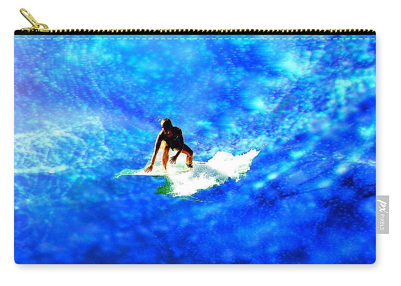 Big Carry-all Pouch featuring the digital art Big Blue by Seth Weaver