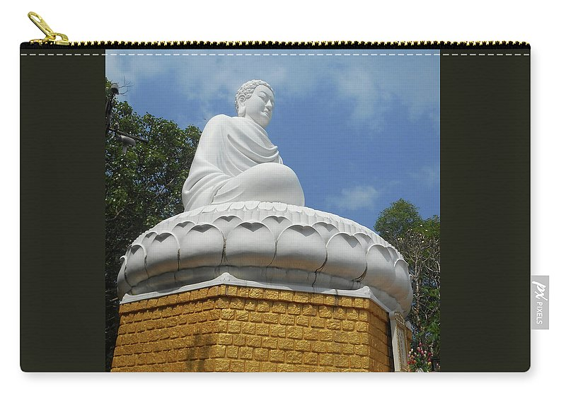 Phu My Carry-all Pouch featuring the photograph Big Buddha 2 by Ron Kandt
