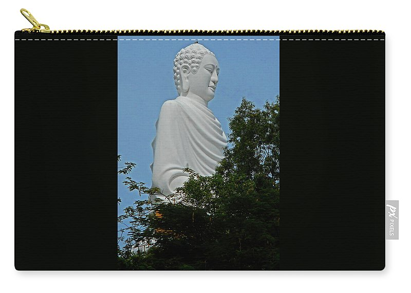 Phu My Carry-all Pouch featuring the photograph Big Buddha 5 by Ron Kandt