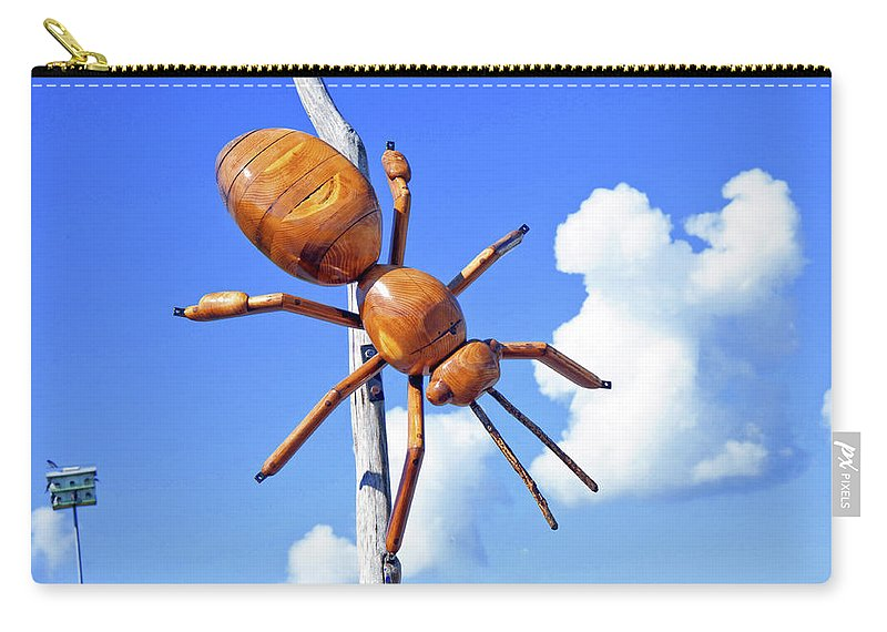 Big Bug Carry-all Pouch featuring the photograph Big Bug Sculpture 1 by Andee Design