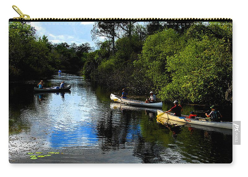 Big Cypress National Preserve Florida Carry-all Pouch featuring the painting Big Cypress Outing by David Lee Thompson
