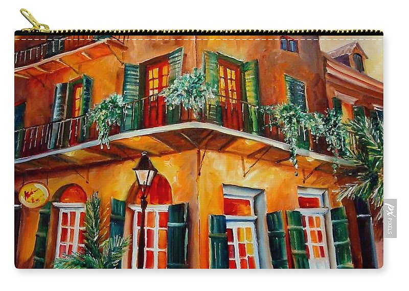 New Orleans Carry-all Pouch featuring the painting Big Easy Sunset by Diane Millsap