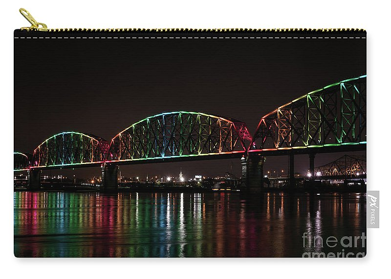 Big Four Bridge Carry-all Pouch featuring the photograph Big Four Bridge 2215 by Andrea Silies