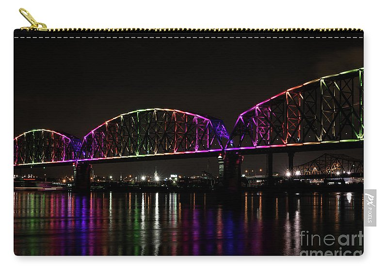 Big Four Bridge Carry-all Pouch featuring the photograph Big Four Bridge 2219 by Andrea Silies