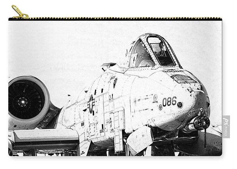 A10 Carry-all Pouch featuring the photograph Big Guns II by Ricky Barnard