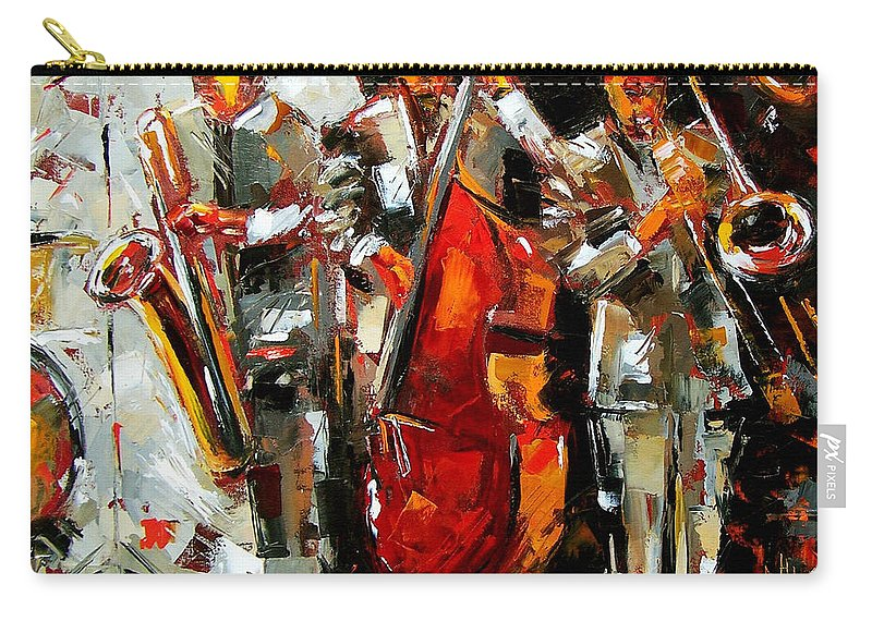 Jazz Carry-all Pouch featuring the painting Big Jazz by Debra Hurd