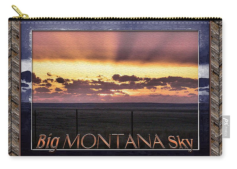 Montana Carry-all Pouch featuring the photograph Big Montana Sky by Susan Kinney