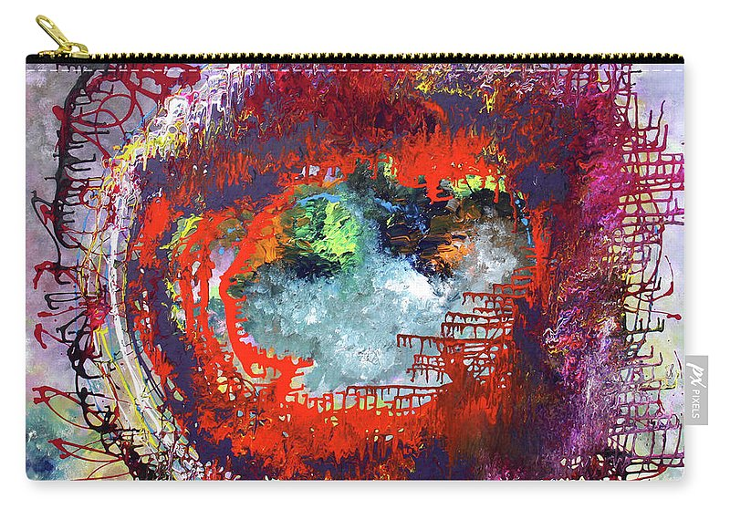 Fusionart Carry-all Pouch featuring the painting Big Optic by Ralph White