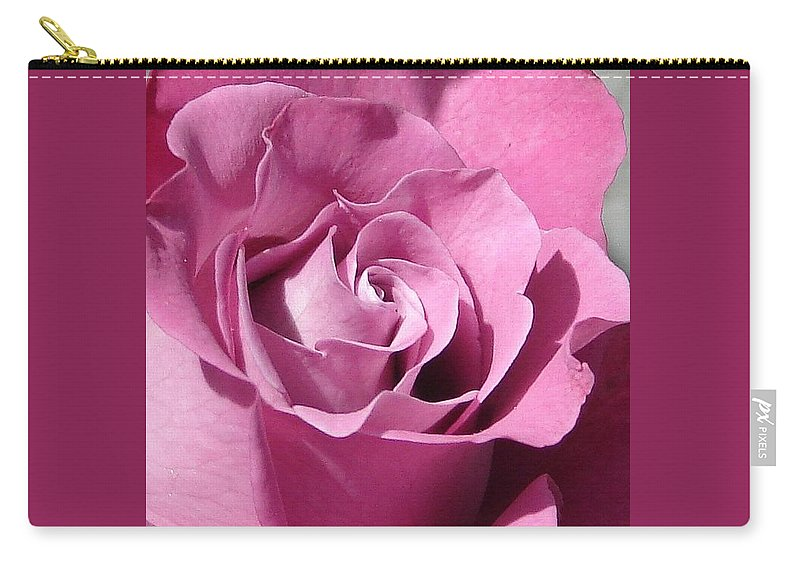 Rose Pink Carry-all Pouch featuring the photograph Big Pink by Luciana Seymour