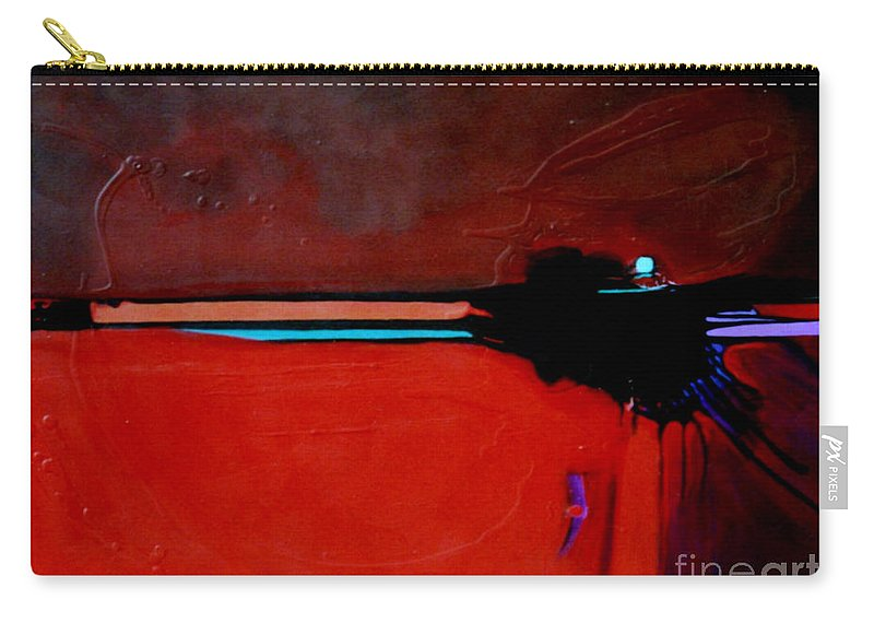 Red Carry-all Pouch featuring the painting Big Red by Marlene Burns