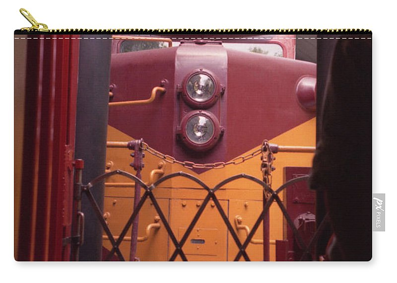 Trains Carry-all Pouch featuring the photograph Big Red by Richard Rizzo