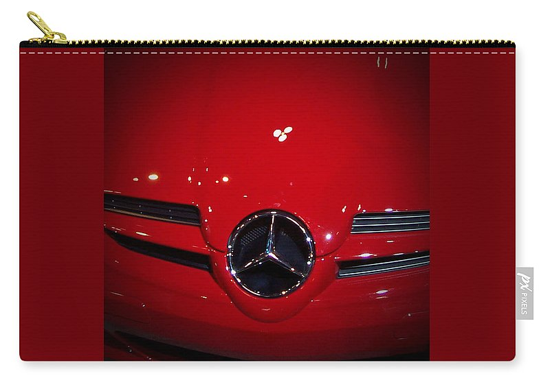 Picture Carry-all Pouch featuring the photograph Big Red Smile - Mercedes-benz S L R Mclaren by Serge Averbukh