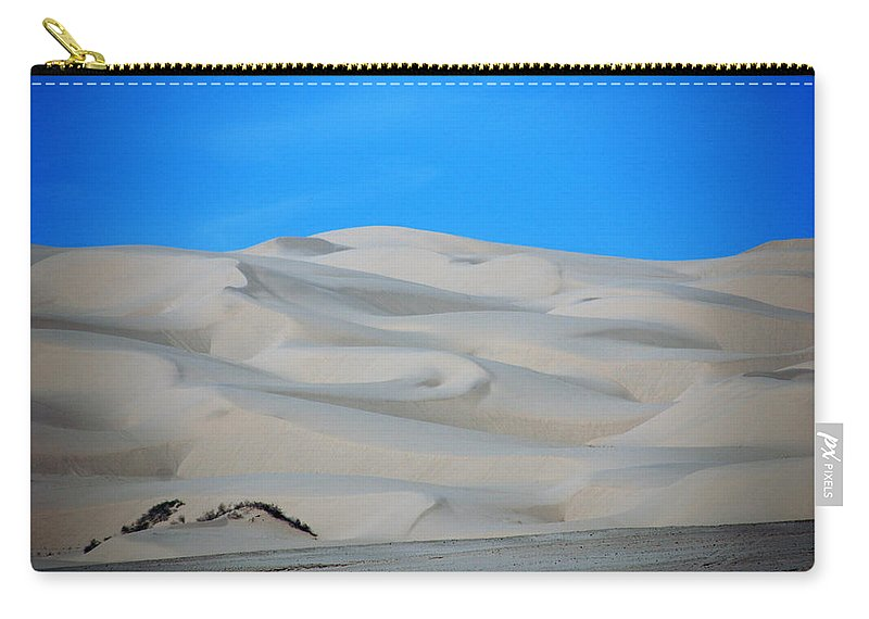 Sand Carry-all Pouch featuring the photograph Big Sand Dunes In Ca by Susanne Van Hulst