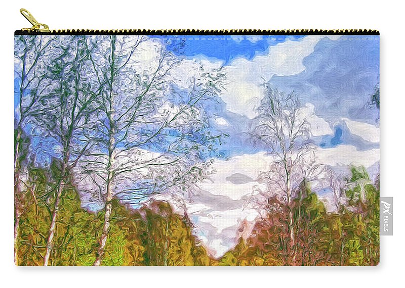 Big Sky Carry-all Pouch featuring the painting Big Sky by Dominic Piperata