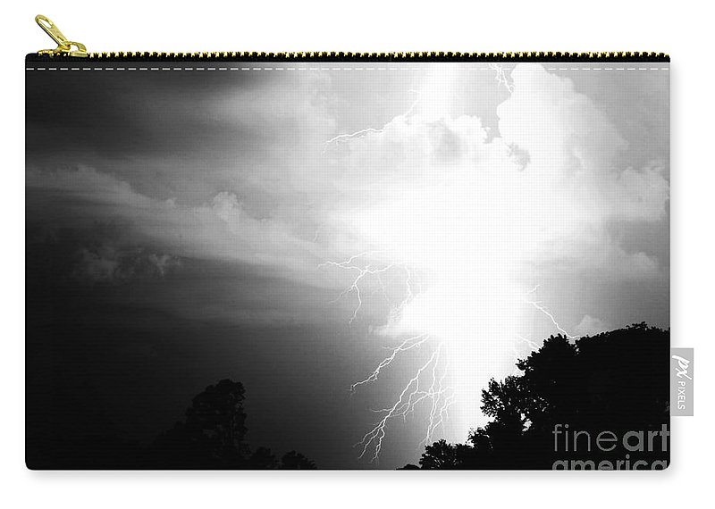 Lightning Carry-all Pouch featuring the photograph Big Strike by Amanda Barcon