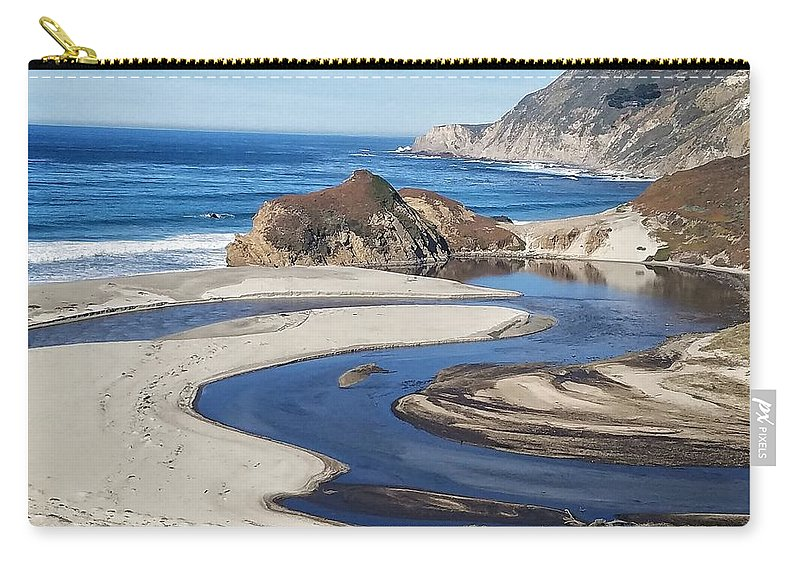 Carry-all Pouch featuring the photograph Big Sur Beaches by Beth LaFata