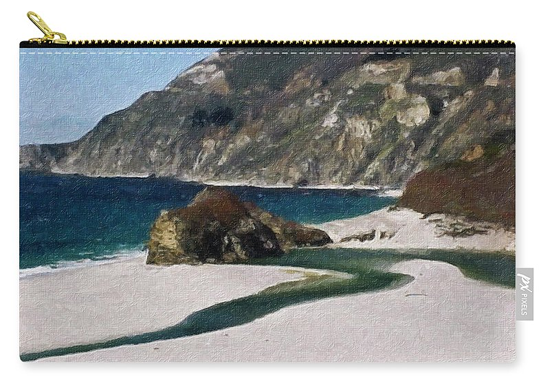 California Carry-all Pouch featuring the painting Big Sur California by Teresa Mucha