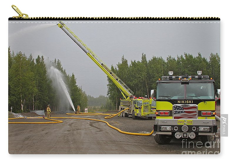 Firefighters Carry-all Pouch featuring the photograph Big Water by Rick Monyahan