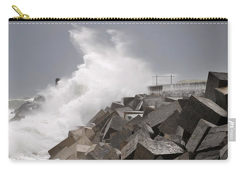Spain Carry-all Pouch featuring the photograph Big Waves IIi by Rafa Rivas